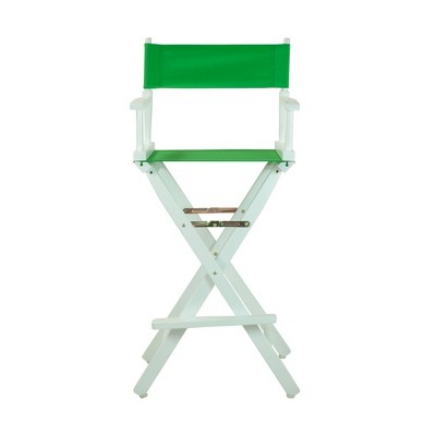 Green Bar Height Director's Chair-White