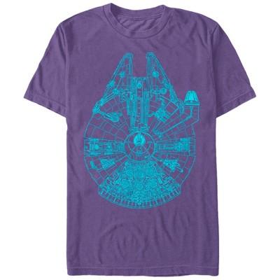 Men's Star Wars Millennium Falcon Outline T-Shirt