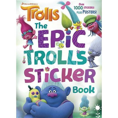 The Epic Trolls Sticker Book (DreamWorks Trolls) (Paperback) by Rachel Chlebowski, Golden Books - image 1 of 1