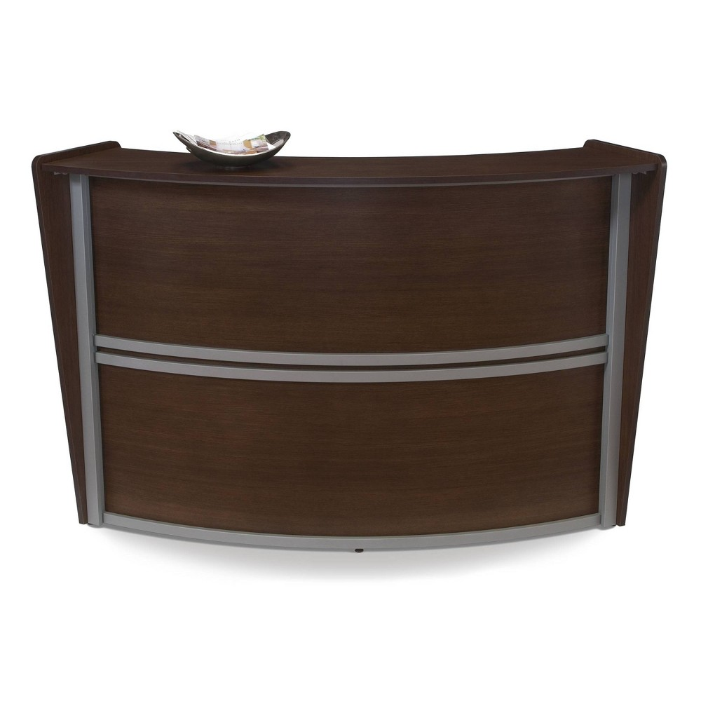 Marque Series Single Unit Reception Station Walnut (Brown) - Ofm