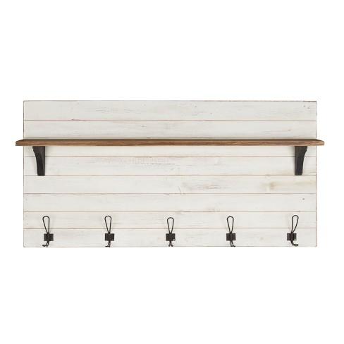 46 1 X 26 Wall Shelf With 5 Hooks
