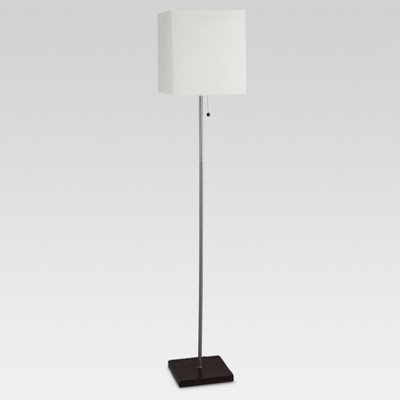 Square Stick Floor Lamp Silver Includes Energy Efficient Light Bulb - Threshold™