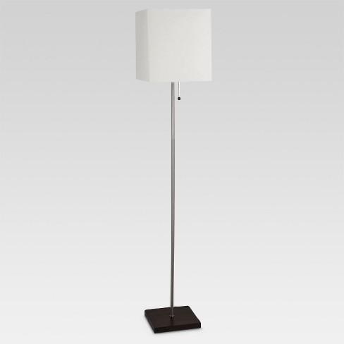 Square Stick Floor Lamp Silver