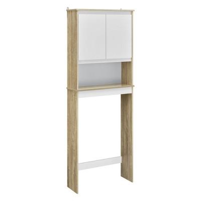 Flint Over The Toilet Storage Cabinet   Weathered Oak/White   Room U0026 Joy :  Target