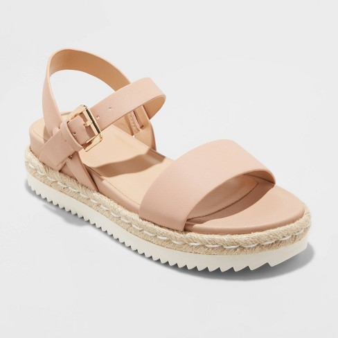 Women's Rianne Espadrille Ankle Strap Sandals - A New Day™  - image 1 of 3