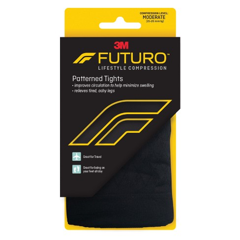 ee07010146 FUTURO Patterned Tights For Improved Circulation, Black : Target