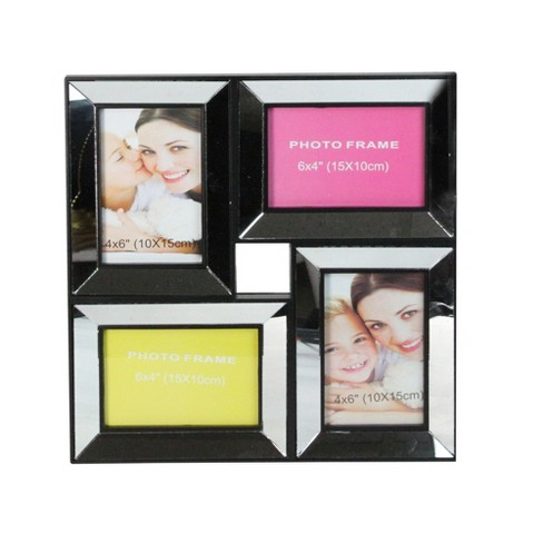 """Northlight 13.75"""" Black Trimmed Glass Encased Collage Photo Picture Frame Wall Decoration - image 1 of 4"""