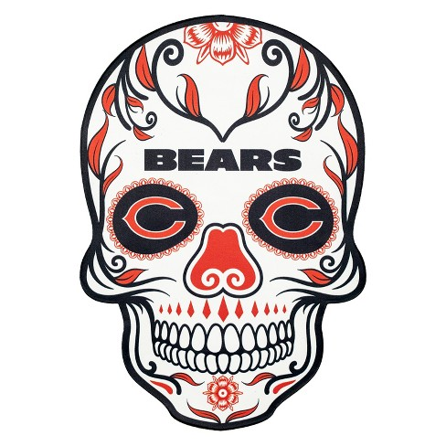 NFL Chicago Bears Large Outdoor Skull Decal