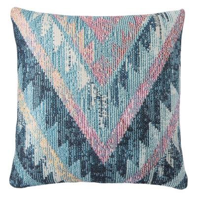 """18""""x18"""" Petra Indoor/Outdoor Geometric Throw Pillow Blue - Jaipur Living"""