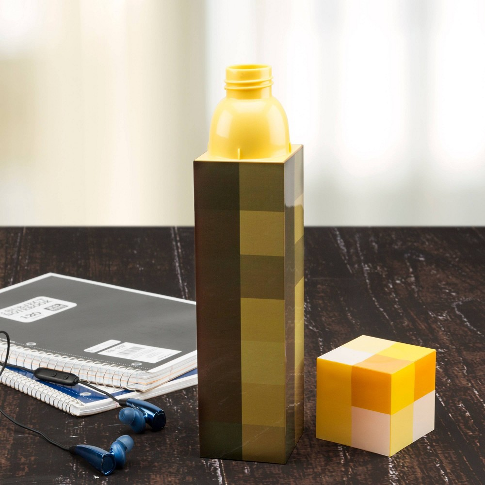 Minecraft 22oz Plastic Square Water Bottle Zak Designs