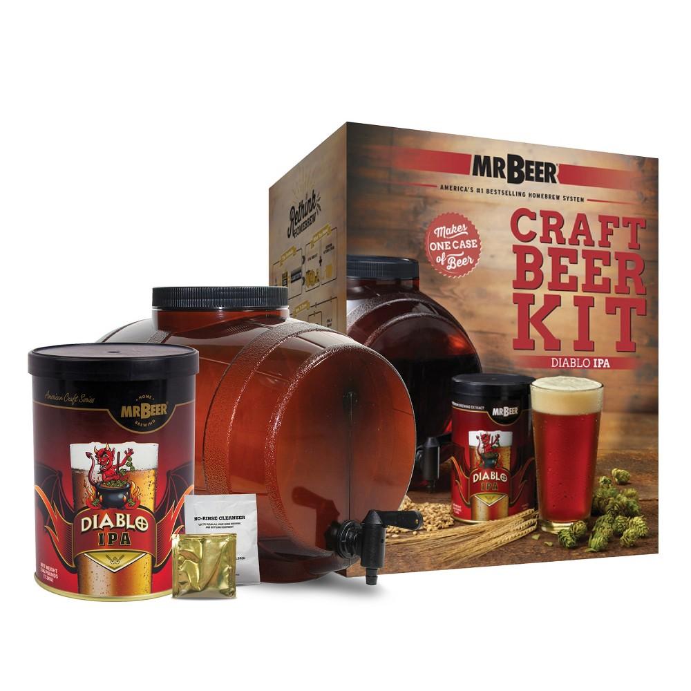 Image of Mr. Beer Diablo IPA Craft Beer Making Kit, Brown