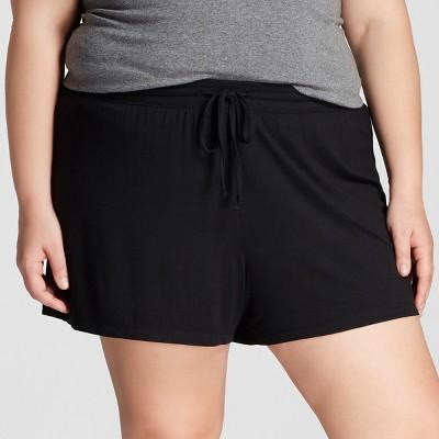 Women's Plus Total Comfort Pajama Shorts - Gilligan & O'Malley - Black 2X