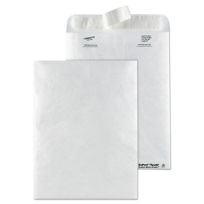 Survivor Catalog Mailers, DuPont Tyvek, #10 1/2, Cheese Blade Flap, Self-Adhesive Closure, 9 x 12, White, 50/Box
