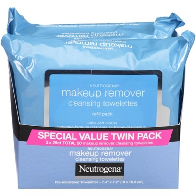 Neutrogena Makeup Remover Cleansing Towelettes Refill Pack - 2pk