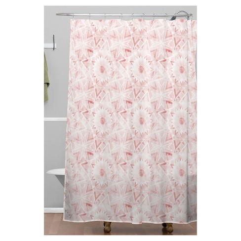 Mosaic Pattern Shower Curtain Pink