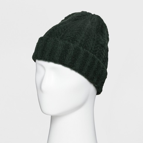 22582737eae Men s Fluffy Cable Cuffed Beanie - Goodfellow   Co™   Target