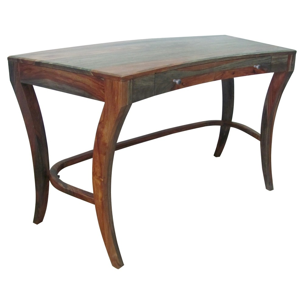 Sheesham Accordian Writing Desk - Brown - Christopher Knight Home, Pecan