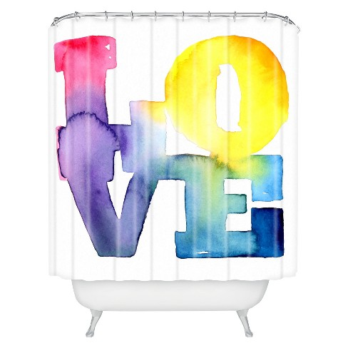 Love 4 Shower Curtain - Deny Designs - image 1 of 4
