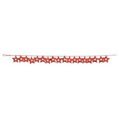 Red Stars Confetti Garland, each