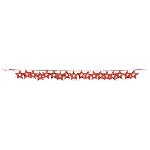 Red Stars Confetti Garland, each - image 1 of 2