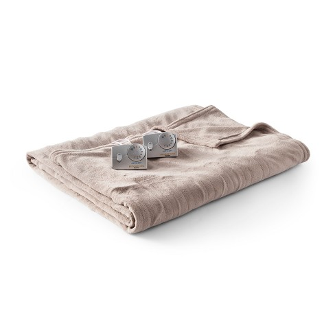 Solid Microplush Electric Blanket - Biddeford Blankets - image 1 of 2