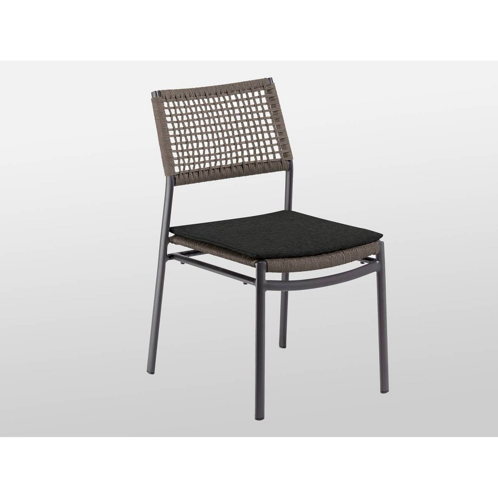 Image of Eiland 2pk Composite Cord Patio Side Chair - Carbon - Oxford Garden