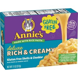 Annie's Creamy Deluxe Gluten Free Rice Pasta & Extra Cheesy Cheddar Sauce 11 oz