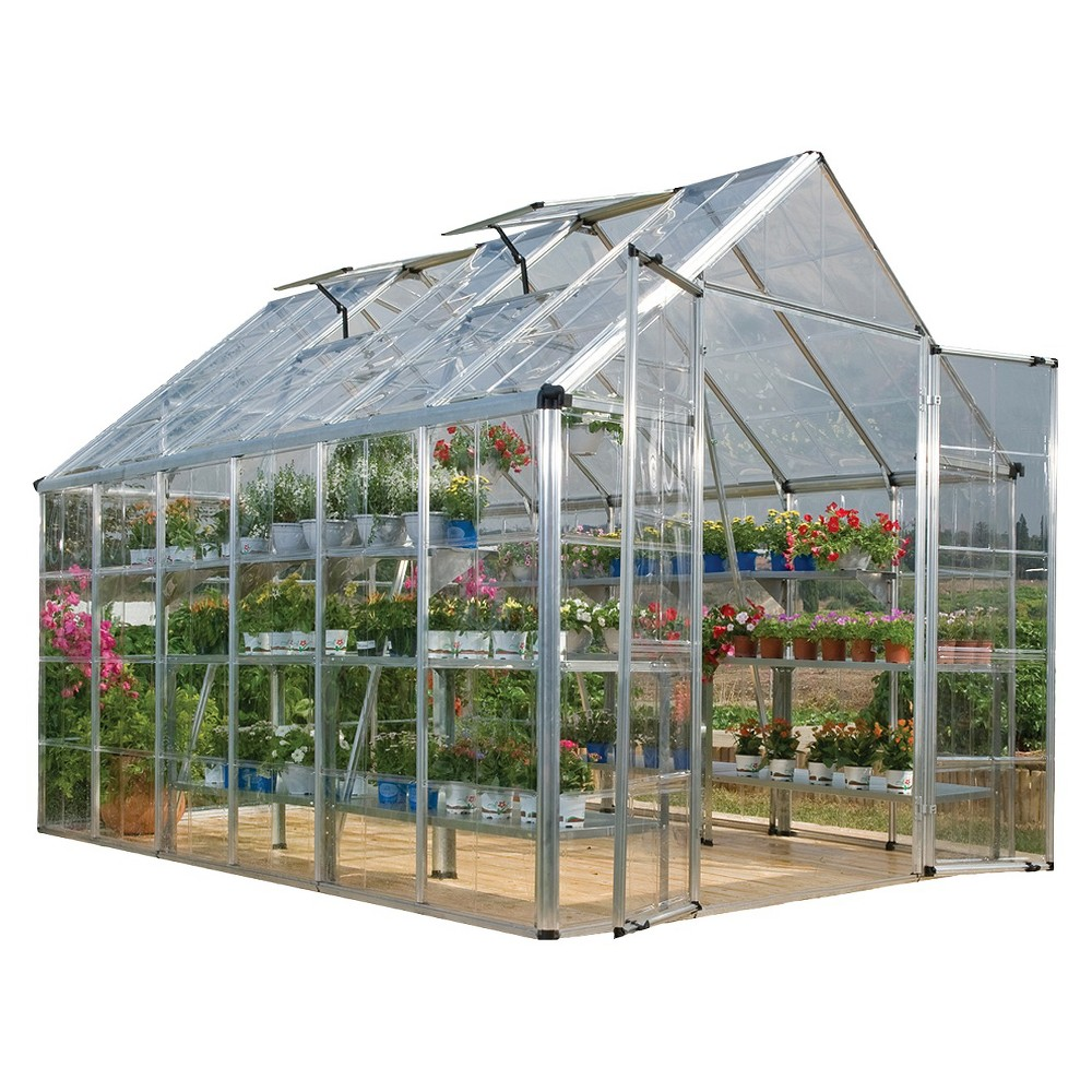 Image of 8' X 12'Snap And Grow Professional GreenHouse - Palram