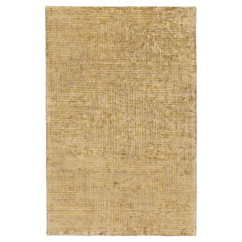 Mustard Abstract Woven Area Rug - (9'X13') - Surya - image 1 of 3