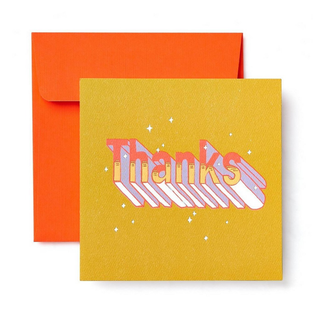"""Image of """"""""""""Thanks"""""""" Greeting Card"""""""