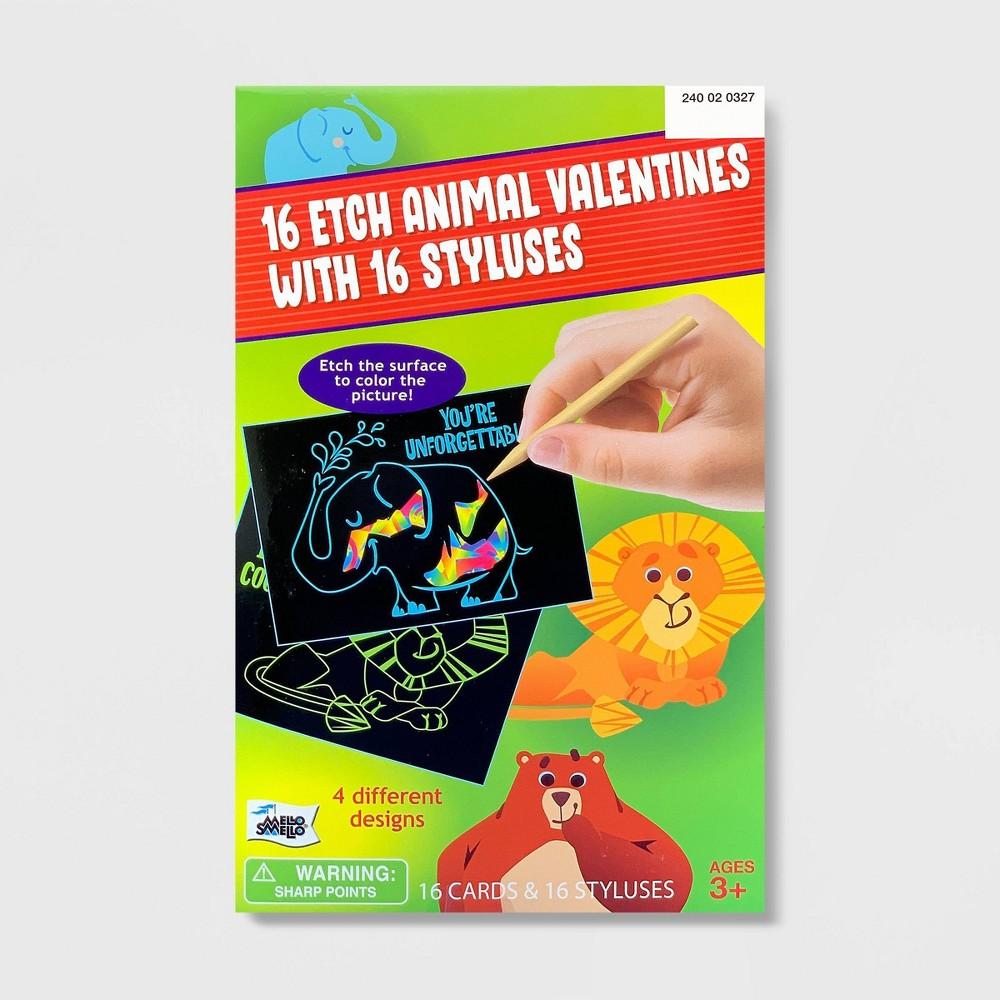 Image of 16ct Valentines Animal Etch Kit - Mello Smello