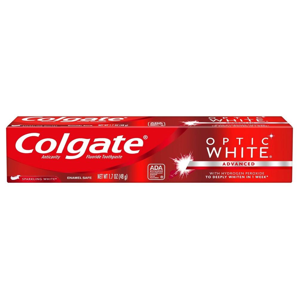 Image of Colgate Optic White Whitening Toothpaste Sparkling White - 1.7oz