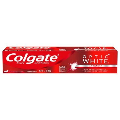 Colgate Optic White Whitening Toothpaste Sparkling White Trial Size 1 7oz Target