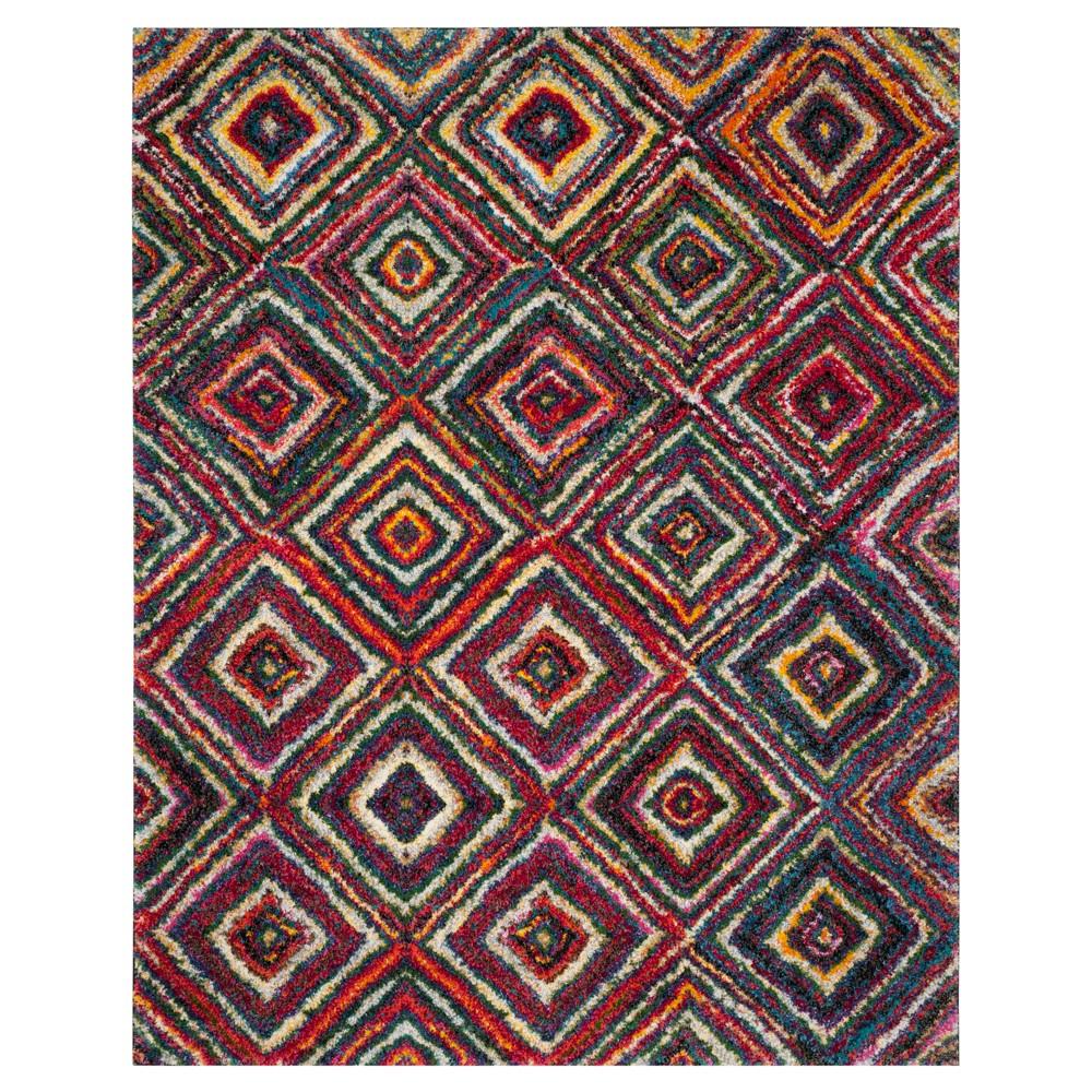 Multicolor Abstract Shag/Flokati Loomed Area Rug - (8'X10') - Safavieh, Multicolored