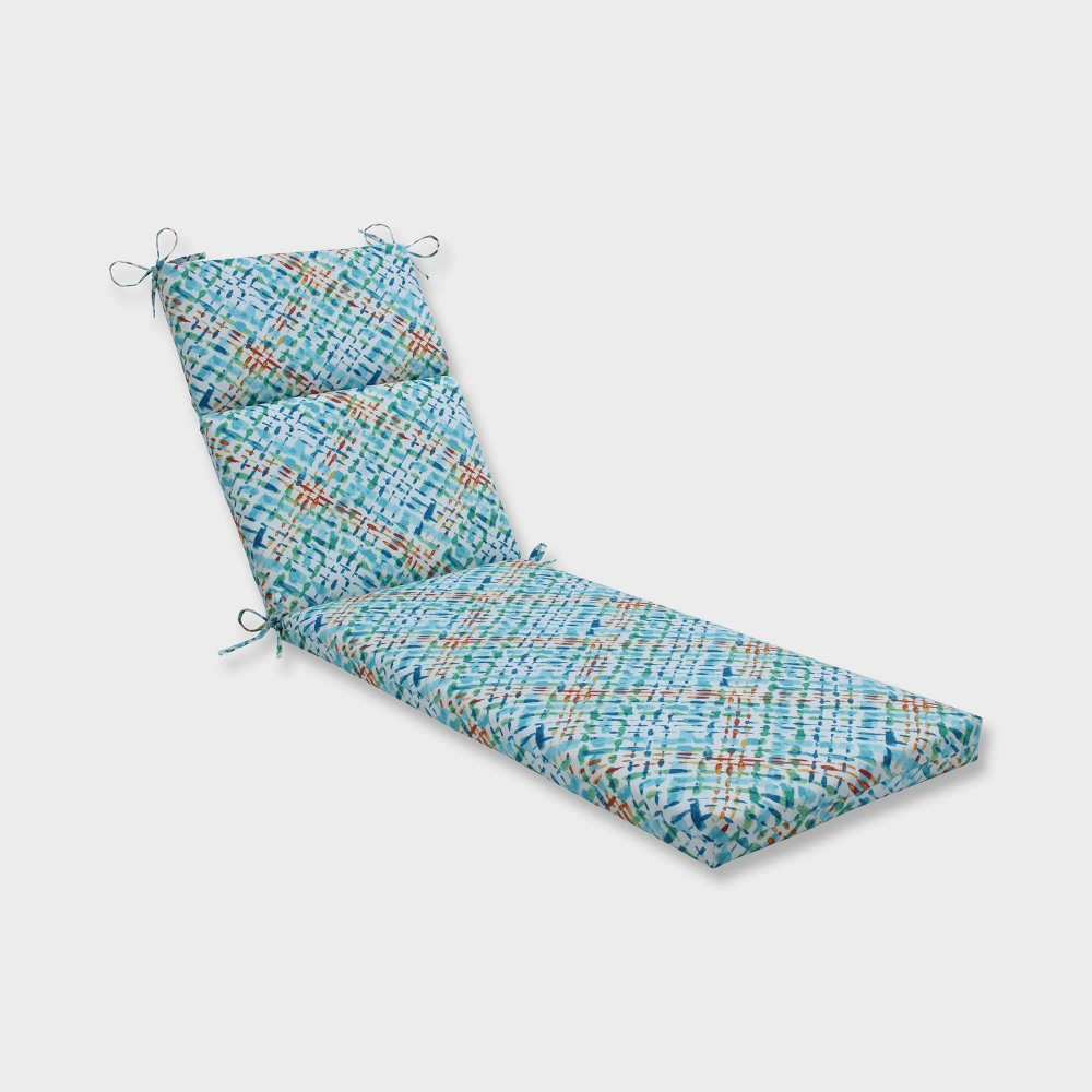 Capiz Opal Chaise Lounge Outdoor Cushion Blue - Pillow Perfect