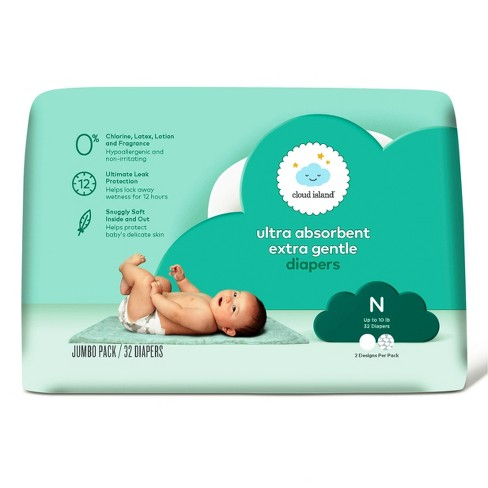 Jumbo Pack Diapers - Newborn (32ct) - Cloud Island™ - image 1 of 2
