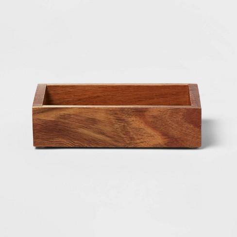 Medium Acacia Soap Dish Natural - Threshold™ - image 1 of 4