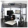 Full Premium Metal Loft Bed - Saracina Home - image 2 of 4