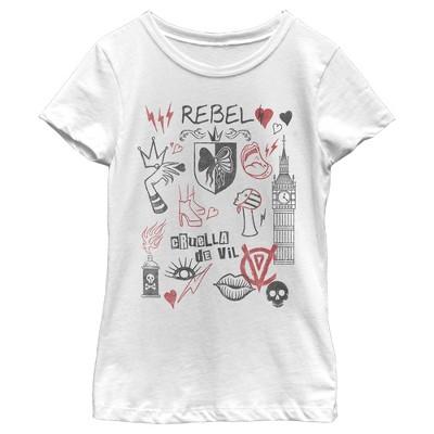 Girl's Cruella Rebel Icons T-Shirt