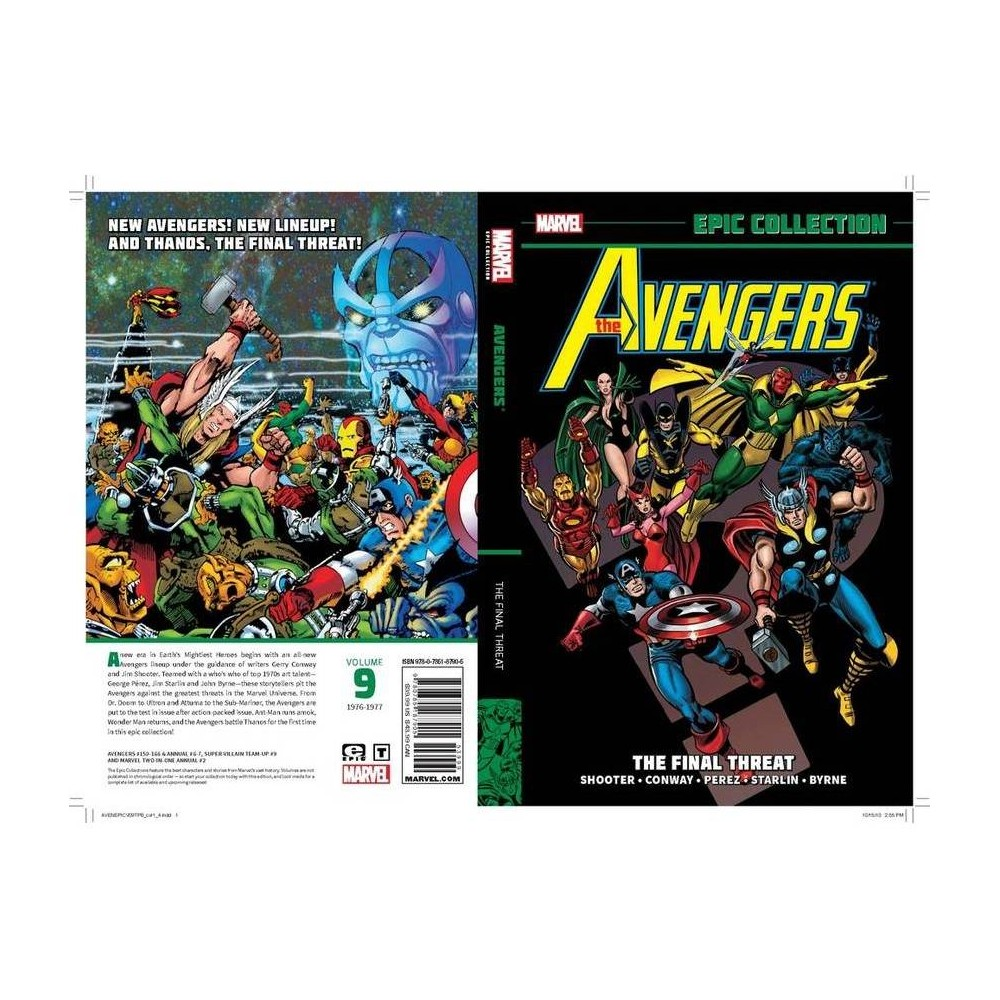 Avengers Epic Collection The Final Threat Paperback