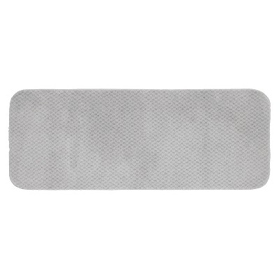 Garland Cabernet Nylon Washable Bath Runner - Platinum Gray (22 x60 )