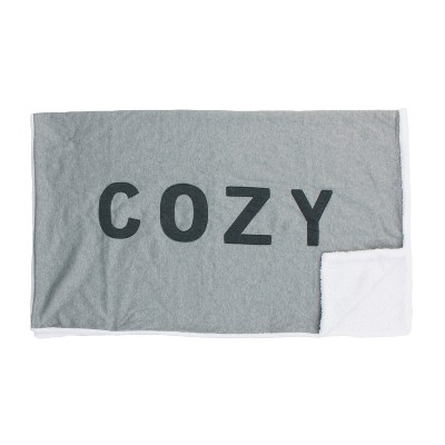 Cozy Throw Blanket Gray - Décor Therapy