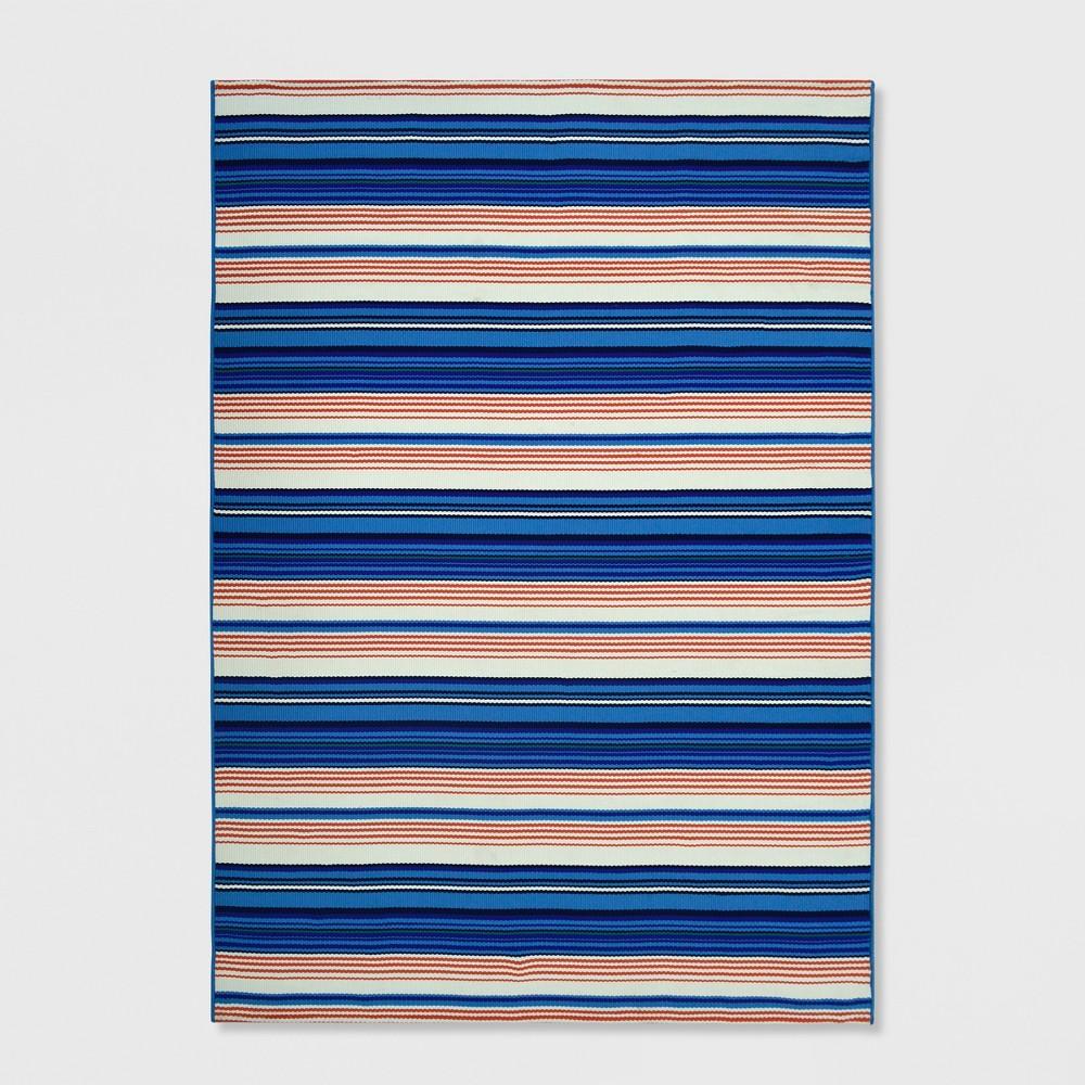 Image of 7' x 10' Multi Stripe Outdoor Rug Seaside - Threshold