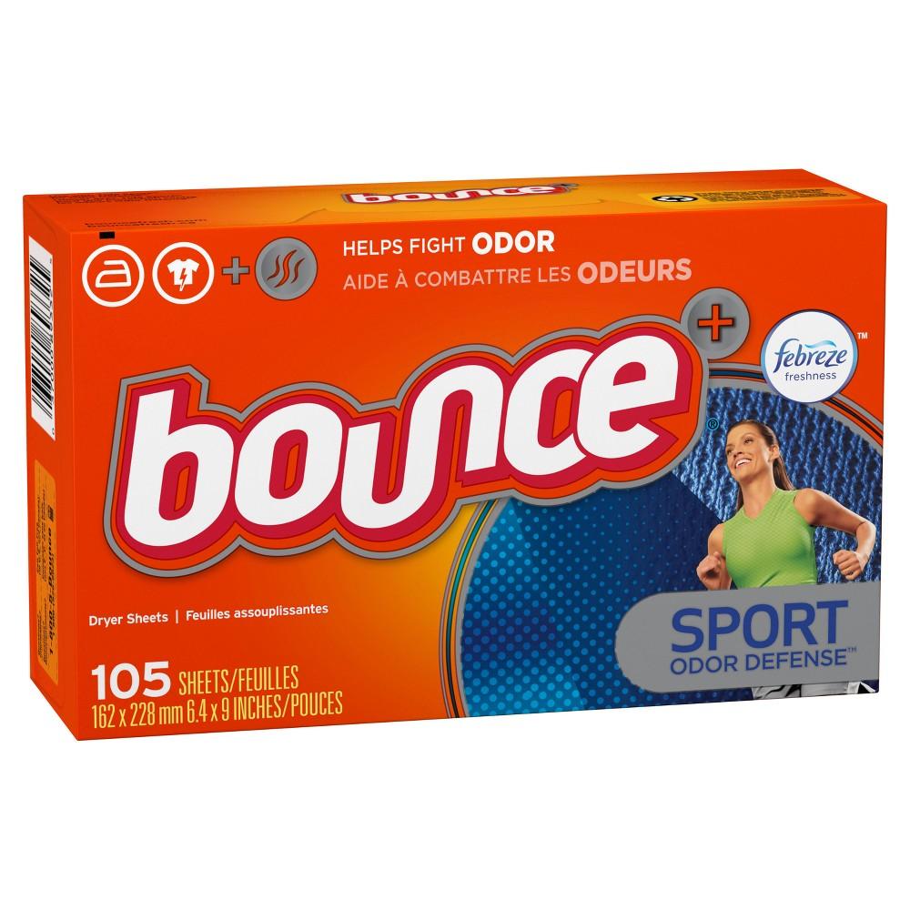 Bounce Plus Febreze Sport Odor Defense Fabric Softener Dryer Sheets - 105ct