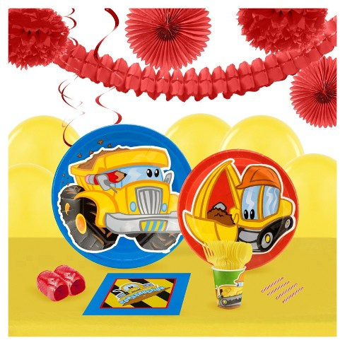 Construction Pals 16 Guest Party Pk with Decoration Kit - image 1 of 1