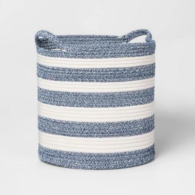 Medium Coiled Stripe Rope Navy - Pillowfort™