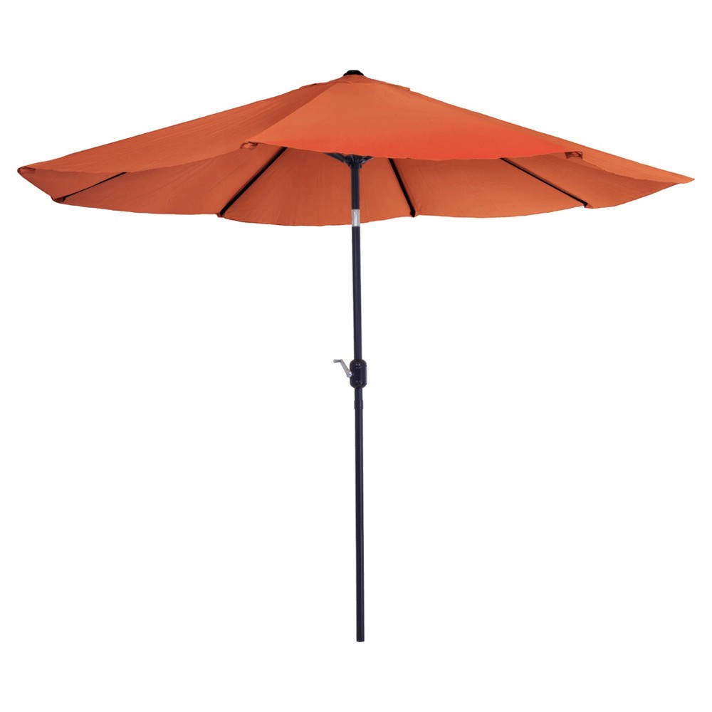 Image of 10' Aluminum Patio Umbrella with Auto Tilt - Terracotta - Pure Garden