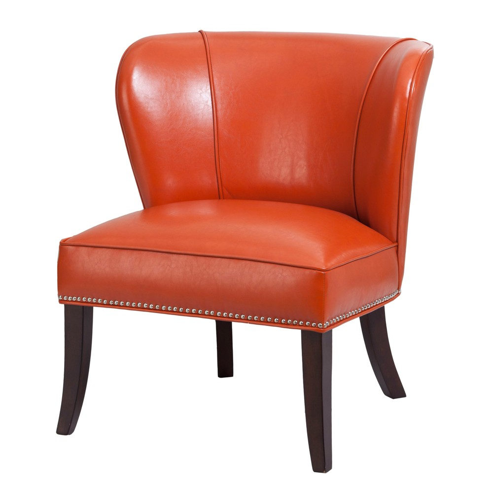 Hilton Concave Back Armless Chair - Tangerine (Orange)
