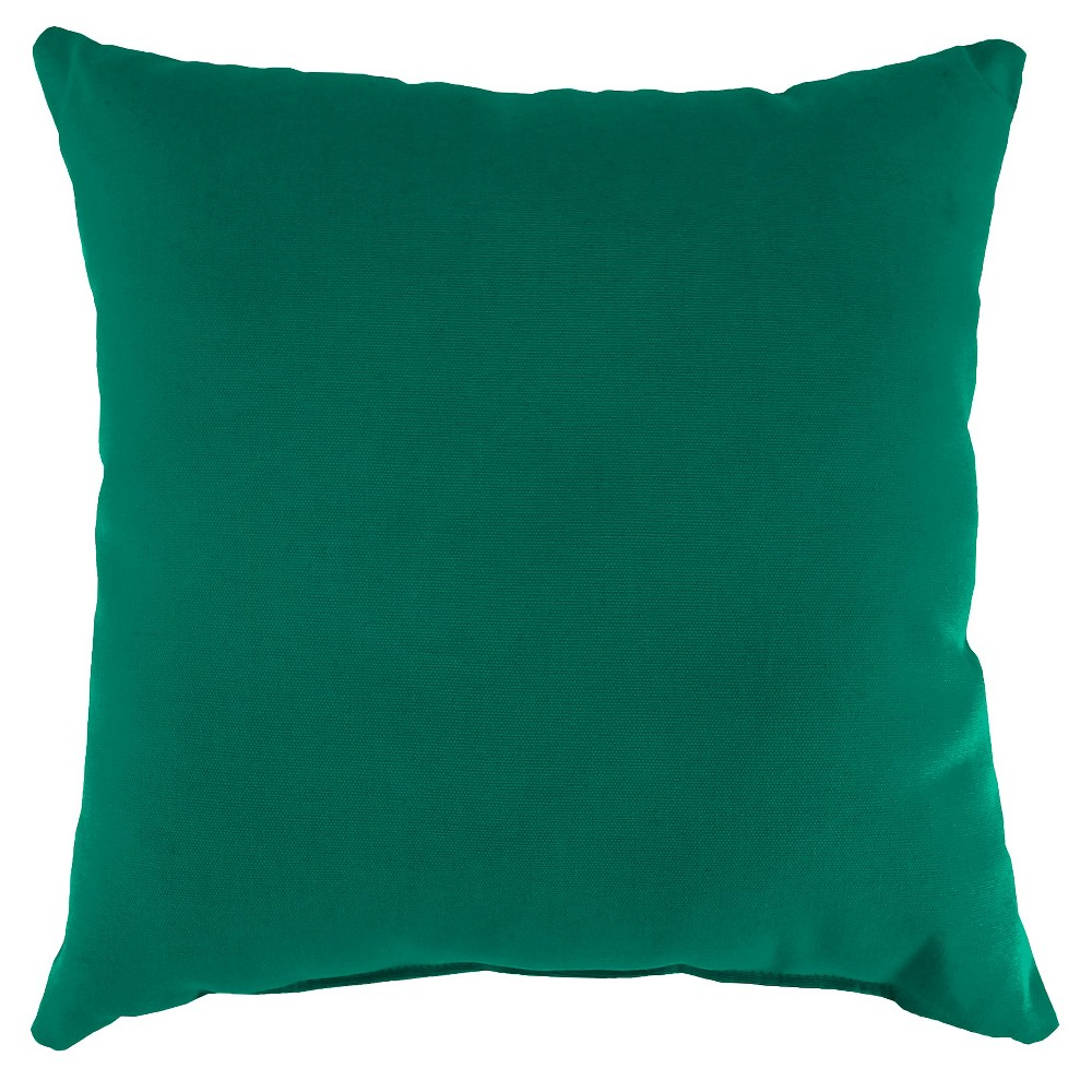 Jordan Set of Square Toss Pillows - Teal Opaque