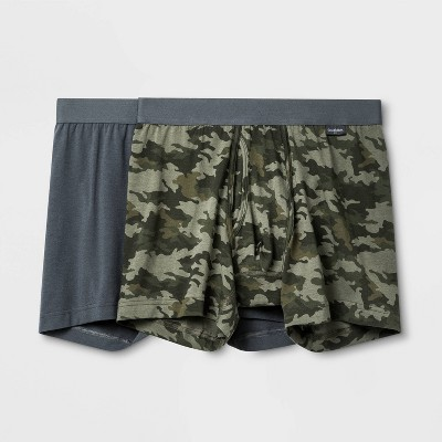 Men's Camo Print 2pk Boxer Briefs - Goodfellow & Co™ Gray